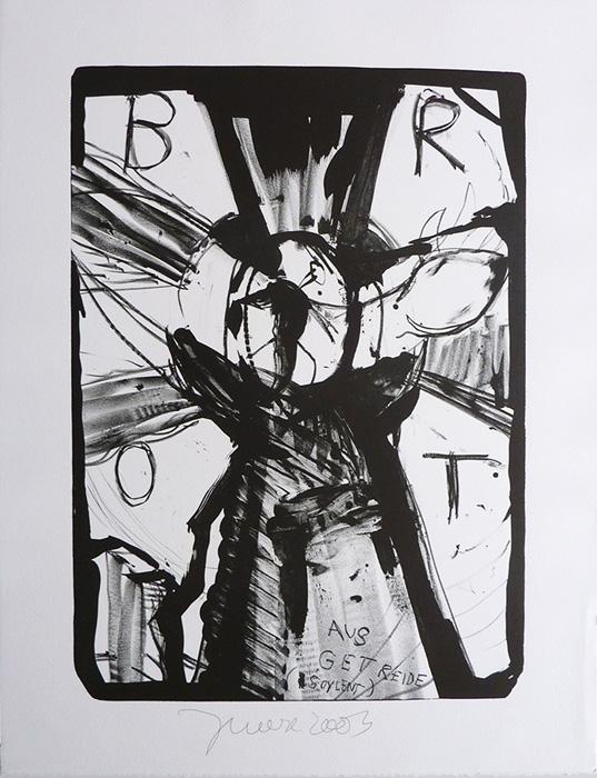Jonathan Meese contemporary art buy art print Griffelkund Radierung DIE INSEKTENGÖTTIN