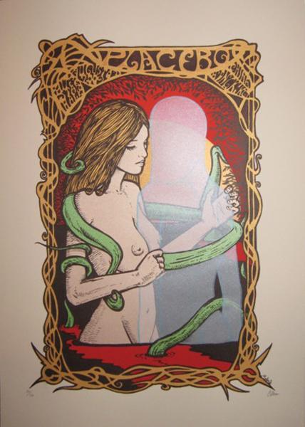ilkscreen siebdruck concertposter poster prints art prints rock art dark nouvou