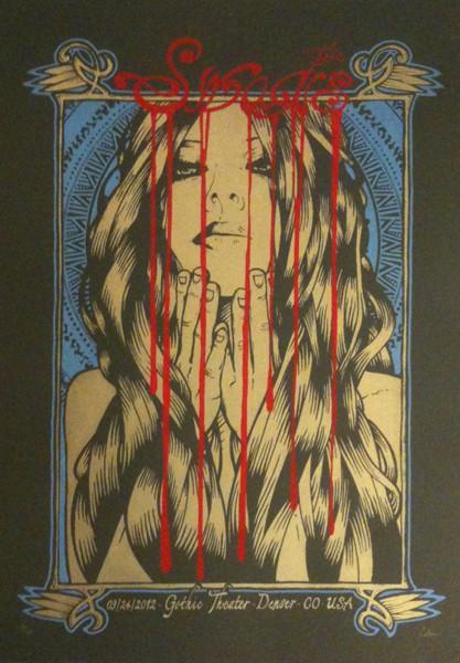 Malleus silkscreen siebdruck concertposter poster prints art prints rock art dark nouvou