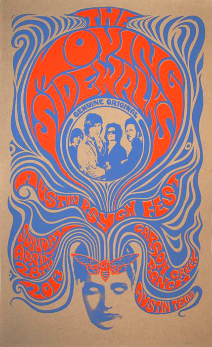 Mishka Westell APF silkscreen Siebdruck Poster art of rock psychodelic art