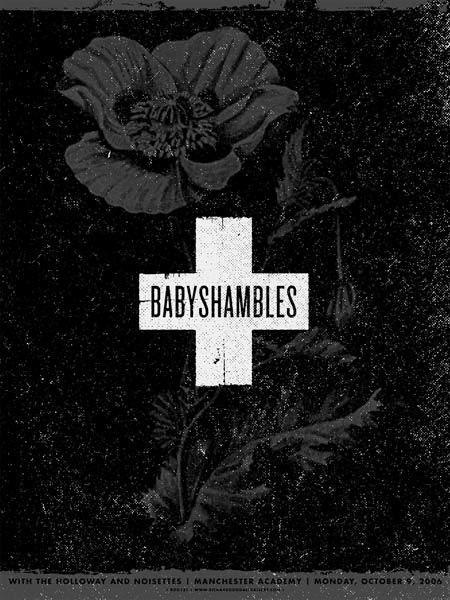 Aesthetic Apparatus  Michael Byzewski BABYSHAMBLES musik art musik posters art of rock musikposter music designe