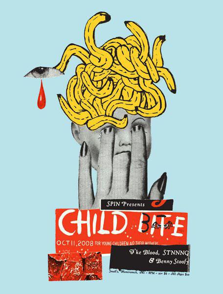 Aesthetic Apparatus  Michael Byzewski CHILD BITE musik art musik posters art of rock musikposter music designe