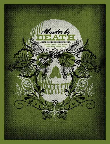 Aesthetic Apparatus  Michael Byzewski MURDER BY DEATH musik art musik posters art of rock musikposter music designe