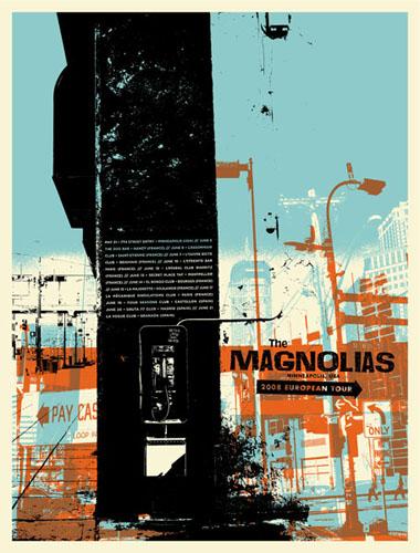 Aesthetic Apparatus  Michael Byzewski THE MAGNOLIAS musik art musik posters art of rock musikposter music designe