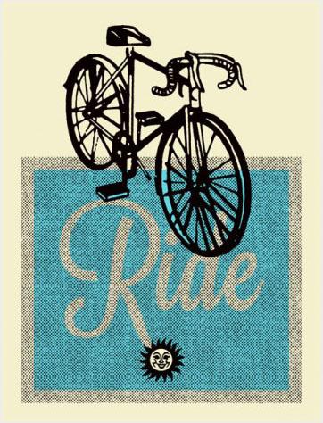 Aesthetic Apparatus Michael Byzewski BIKE RIDE - BLUE musik art musik posters art of rock musikposter music designe