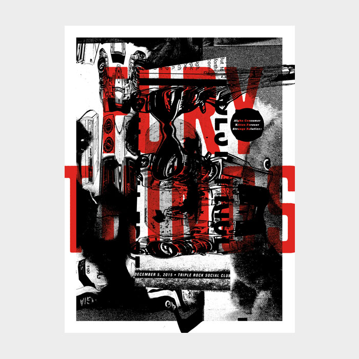 Aesthetic Apparatus Michael Byzewski FURY THINGS musik art musik posters art of rock musikposter music designe