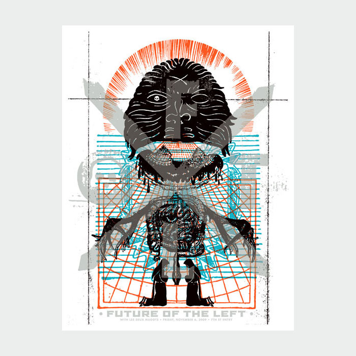 Aesthetic Apparatus Michael Byzewski FUTURE OF THE LEFT 1 musik art musik posters art of rock musikposter music designe