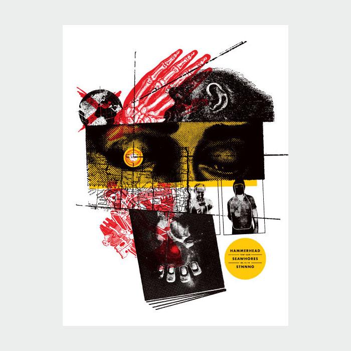 Aesthetic Apparatus Michael Byzewski HAMMERHEAD musik art musik posters art of rock musikposter music designe