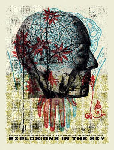 Aesthetic Apparatus Michael Byzewski POST SYNAPTIC PROFILE musik art musik posters art of rock musikposter music designe