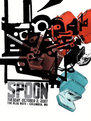Aesthetic Apparatus Michael Byzewski SPOON musik art musik posters art of rock musikposter music designe