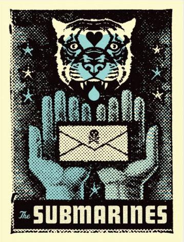 Aesthetic Apparatus Michael Byzewski SUBMARINES musik art musik posters art of rock musikposter music designe