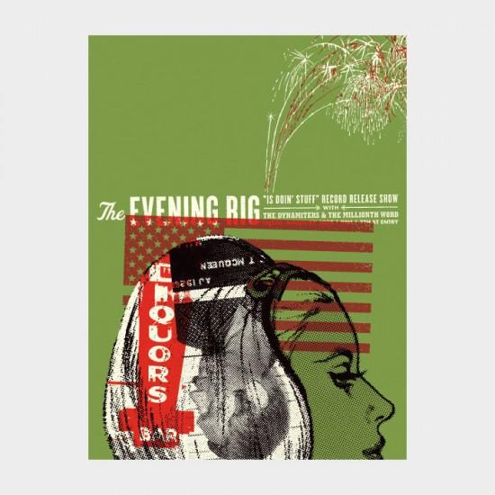 Aesthetic Apparatus Michael Byzewski THE EVENING RIG musik art musik posters art of rock musikposter music designe