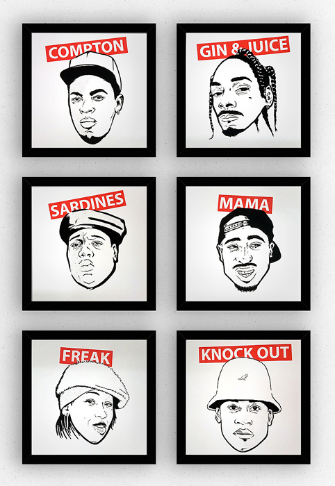 Antighost HIPHOP LEGENDS Siebdruck silkscreen Poster Musik art Artprint print
