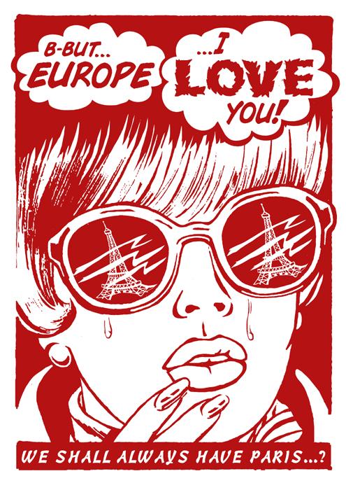 Chris Hopewell screenprint poster art of rock music art