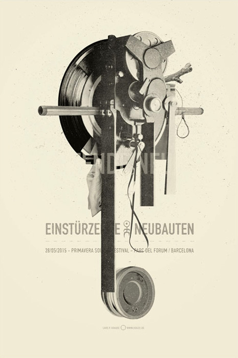 Douze Einstürzende Neubauten urban art gallery buy street art screenprint poster art of rock
