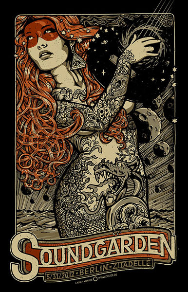 Douze SOUNDGARDEN art gallery buy street art screenprint poster art of rock