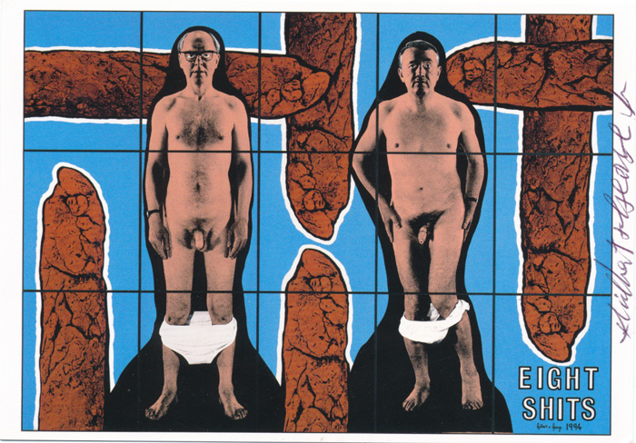 Gilbert & George contemporary art buy print siebdruck poster art Multiple Eight Shits