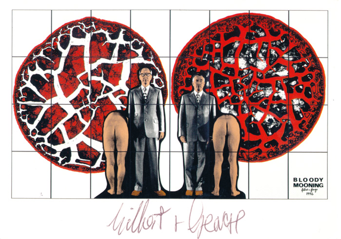 Gilbert & George contemporary art buy print siebdruck poster art Multiple Bloody Mooning