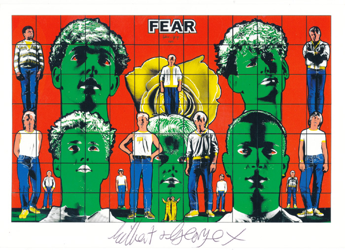 Gilbert & George contemporary art buy print siebdruck poster art Multiple Fear