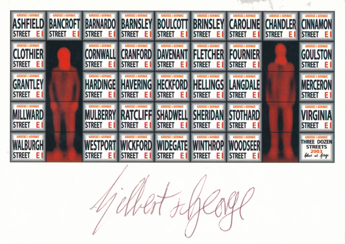 Gilbert & George contemporary art buy print siebdruck poster art Multiple Three Dozen Streets