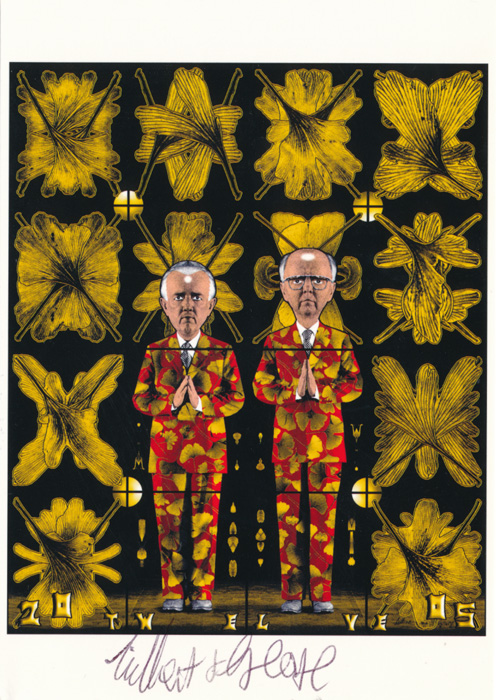 Gilbert & George contemporary art buy print siebdruck poster art Multiple Twelve
