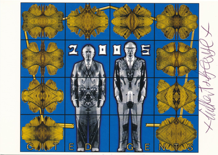 Gilbert & George contemporary art buy print siebdruck poster art Multiple Cited Gents
