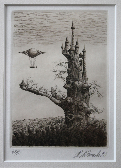 Werner Kimmerle Druckgrafik Radierung art buy art Druck Aquatinta