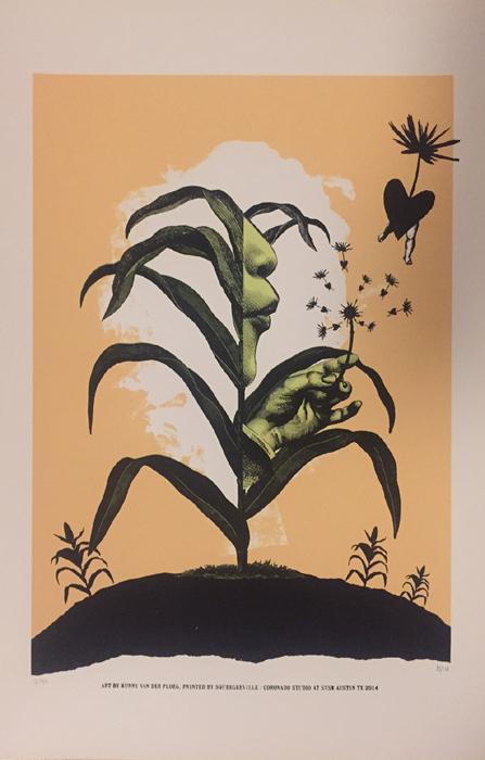 Kunny van der Ploeg siebdruck silkscreen conzert poster art of rock 'spread love'