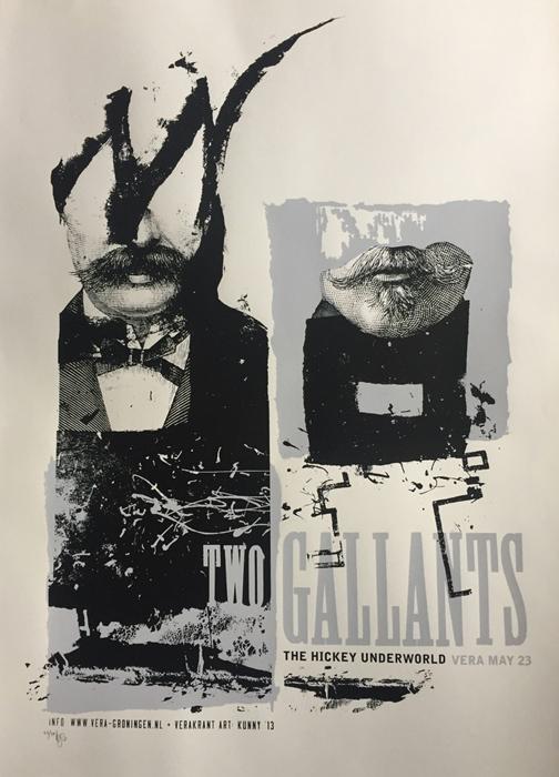 Kunny van der Ploeg siebdruck silkscreen conzert poster art of rock Two Gallants