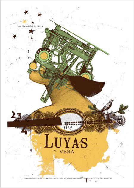 Kunny van der Ploeg siebdruck silkscreen conzert poster art of rock the Luyas