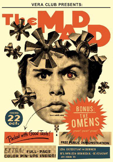 Kunny van der Ploeg siebdruck silkscreen conzert poster art of rock The Madd