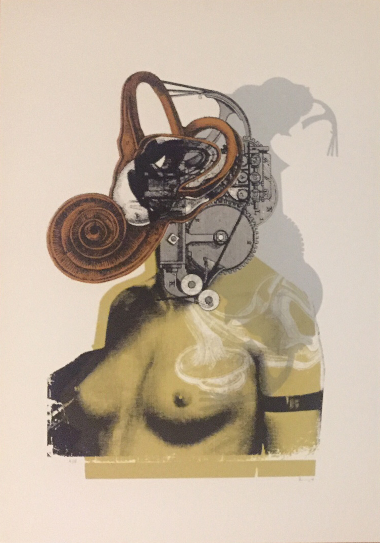 Kunny van der Ploeg siebdruck silkscreen conzert poster art of rock woman soft machines blue