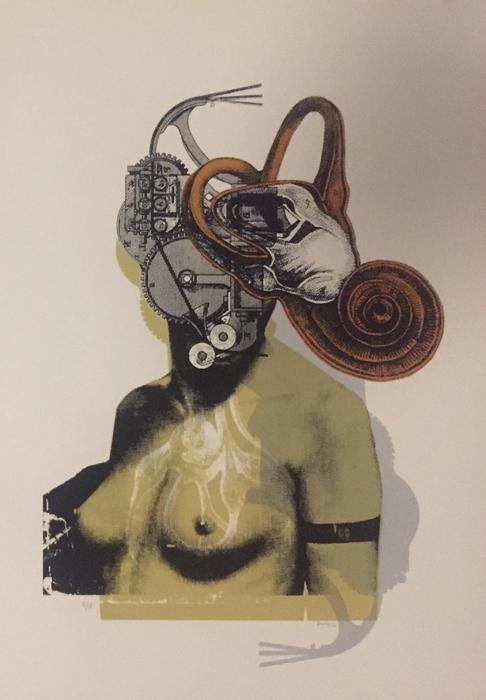 Kunny van der Ploeg siebdruck silkscreen conzert poster art of rock woman soft machines blue II