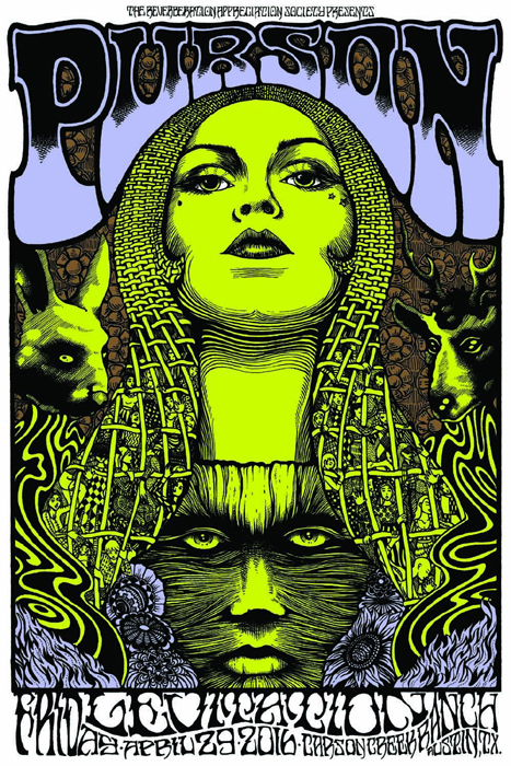 Alan Forbes poster art screenprint purson