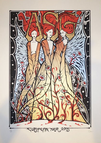 Malleus ASG silkscreen siebdruck concertposter poster prints art prints rock art dark nouvou