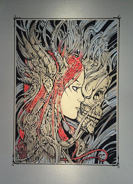 Malleus Asymmetry 2016 silkscreen siebdruck concertposter poster prints art prints rock art dark nouvou