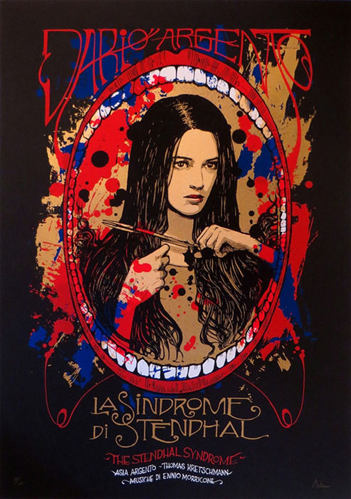 Malleus LA sindrom di stendhal silkscreen siebdruck concertposter poster prints art prints rock art dark nouvou