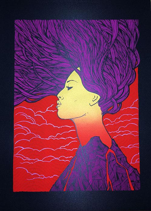 Malleus Magma silkscreen siebdruck concertposter poster prints art prints rock art dark nouvou