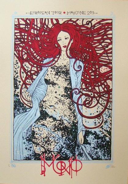 Malleus Mono 2011 silkscreen siebdruck concertposter poster prints art prints rock art dark nouvou