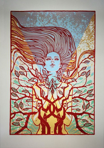 Malleus SO BELOW silkscreen siebdruck concertposter poster prints art prints rock art dark nouvou