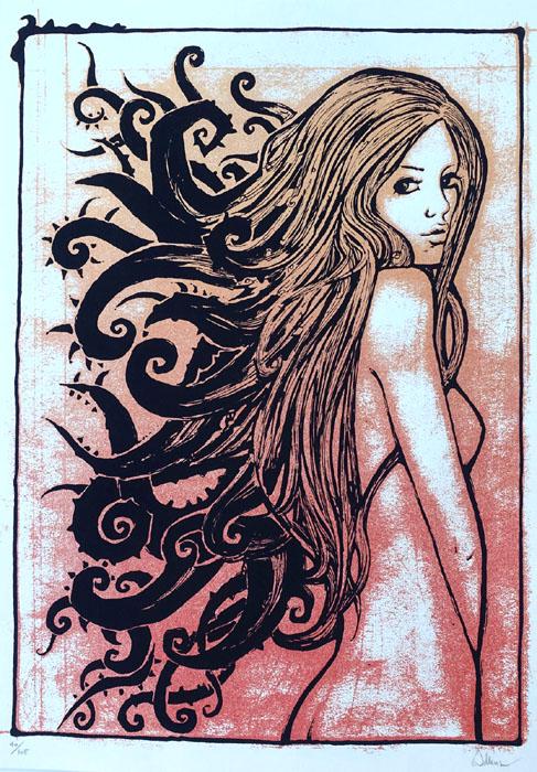 Malleus TENTACOLA silkscreen siebdruck concertposter poster prints art prints rock art dark nouvou