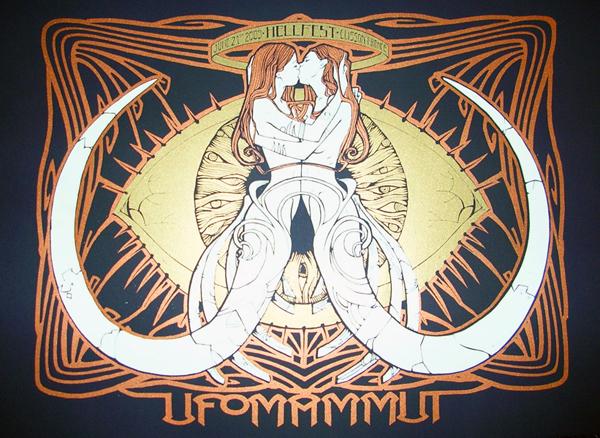 Malleus UFOMAMMUT 2009 silkscreen siebdruck concertposter poster prints art prints rock art dark nouvou