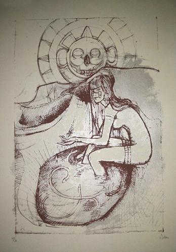 Malleus acqua silkscreen siebdruck concertposter poster prints art prints rock