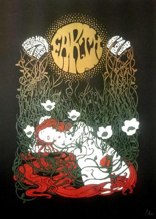 Malleus earth 2008 silkscreen siebdruck concertposter poster prints art prints rock art dark nouvou
