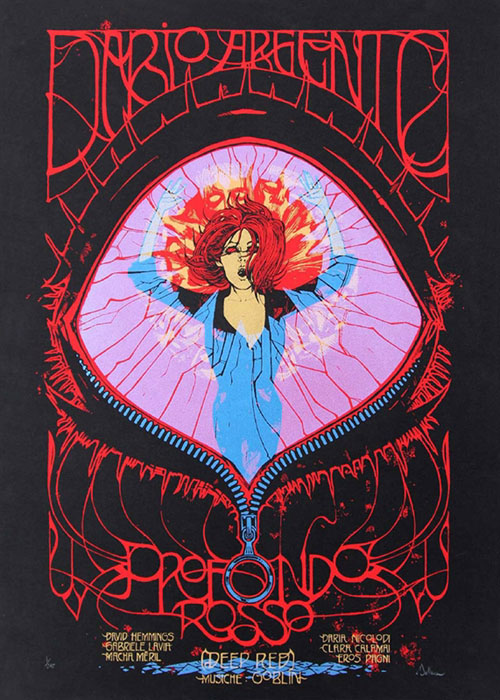 Malleus profondo rosso silkscreen siebdruck concertposter poster prints art prints rock art dark nouvou