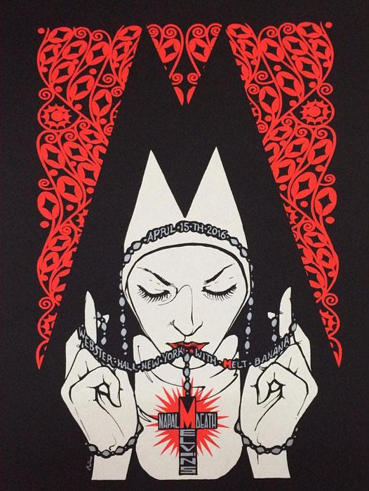 Malleus-Melvins-New-York-Poster-2016 silkscreen siebdruck concertposter poster prints art prints rock art dark nouvou