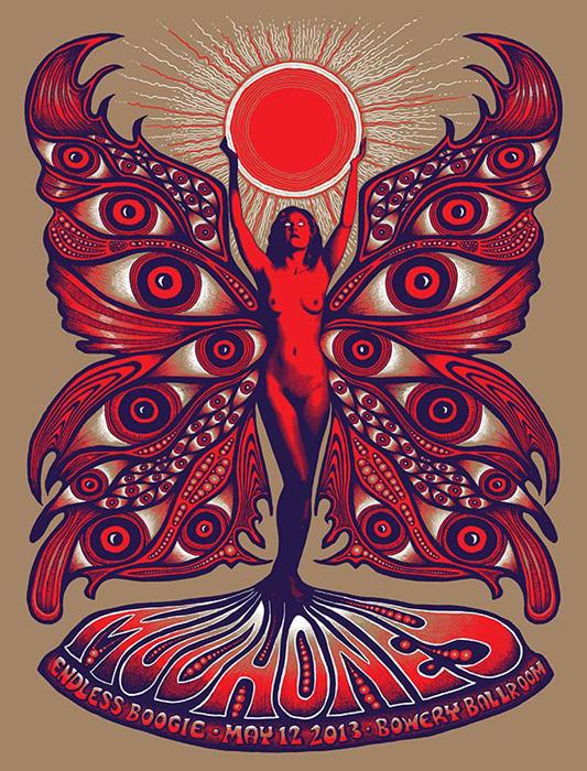 Mishka Westell Mudhoney silkscreen Siebdruck Poster art of rock psychodelic art
