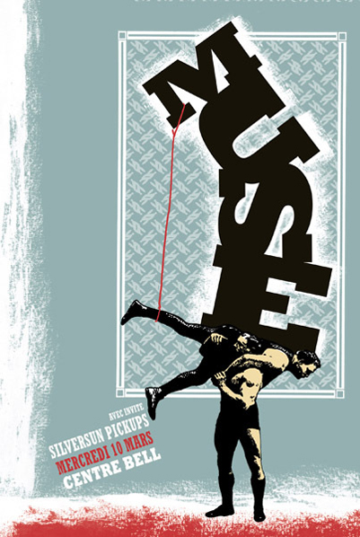 Pat Hamou  Muse silkscreen siebdruck print poster