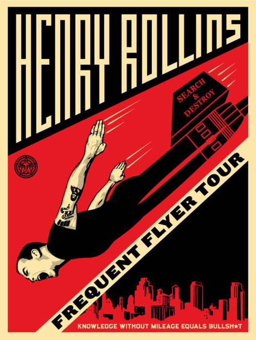Shepard Fairey Obey silkscreen Siebdruck ROLLINS_frequent-FNL