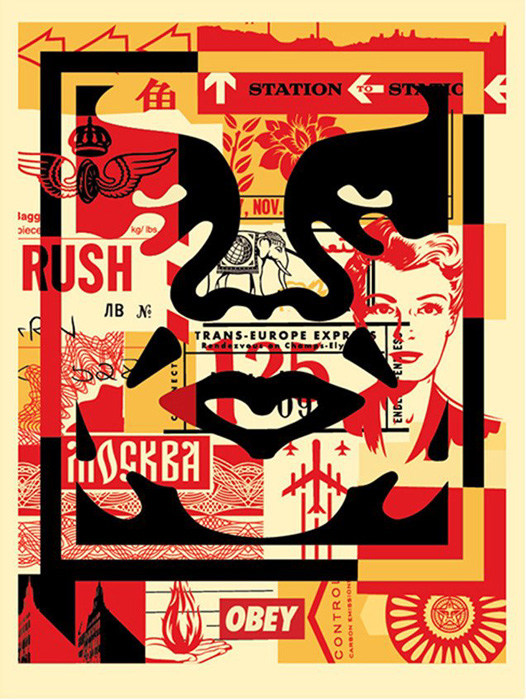 Shepard Fairey Obey offset print 2016 obey face cream